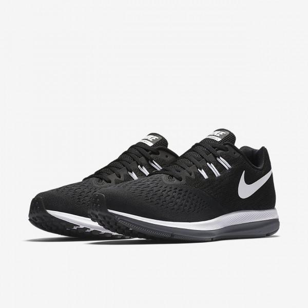 Nike Zoom Winflo 4 Laufschuhe Herren Schwarz Dunkelgrau Weiß 640-72876