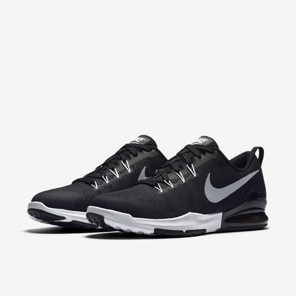 Nike Zoom Train Action Trainingsschuhe Herren Schwarz Weiß Metallic Silber 525-75029