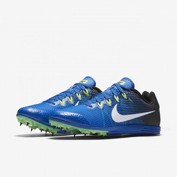 Nike Zoom Rival D 9 Spike Schuhe Herren Blau Schwarz Grün Weiß 692-64001