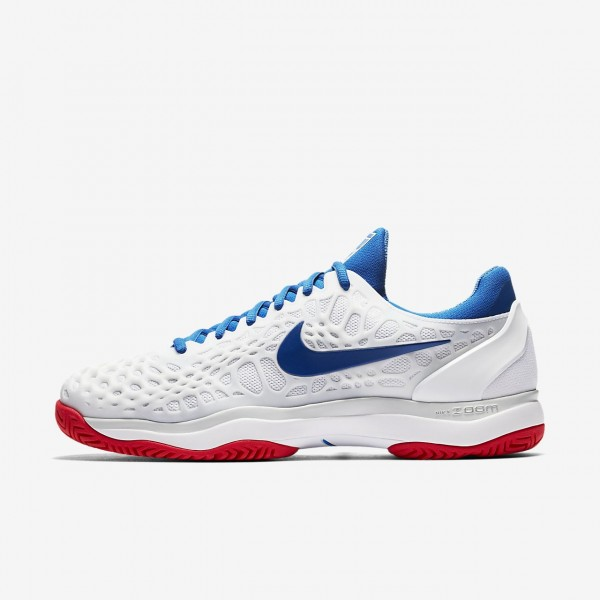 Nike Zoom Cage 3 Tennisschuhe Herren Weiß Platin ...