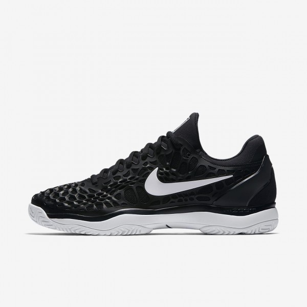 Nike Zoom Cage 3 Tennisschuhe Herren Schwarz Weiß...