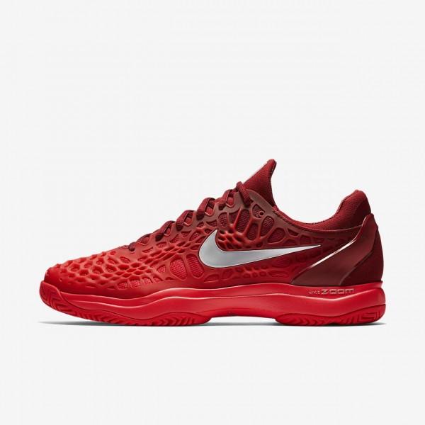Nike Zoom Cage 3 Tennisschuhe Herren Rot Metallic ...