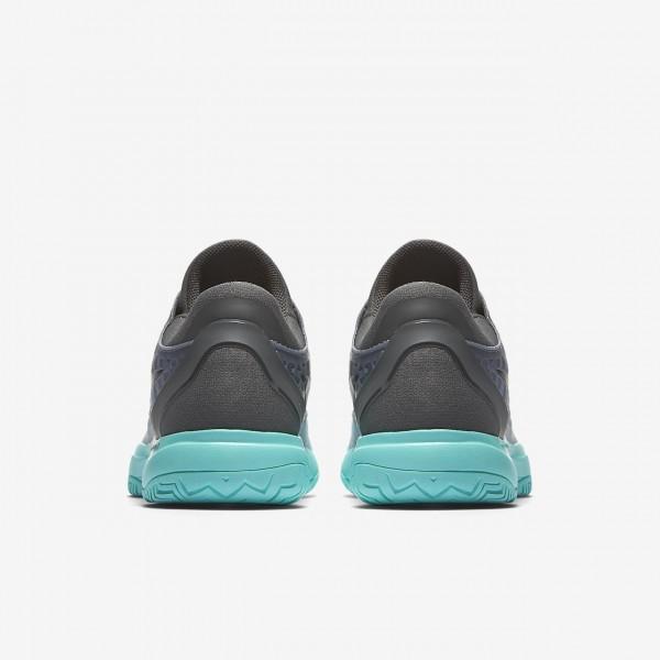 Nike Zoom Cage 3 Tennisschuhe Herren Dunkelgrau Grün Grau Schwarz 805-10859