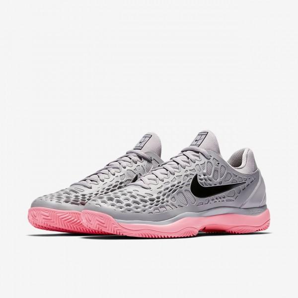 Nike Zoom Cage 3 Clay Tennisschuhe Herren Rosa Weiß Schwarz 781-98083