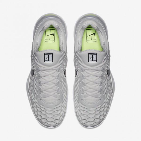Nike Zoom Cage 3 Tennisschuhe Herren Grau Weiß Grün Schwarz 229-23816