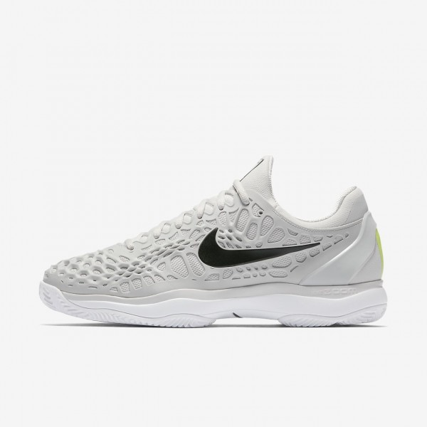 Nike Zoom Cage 3 Clay Tennisschuhe Herren Grau Wei...