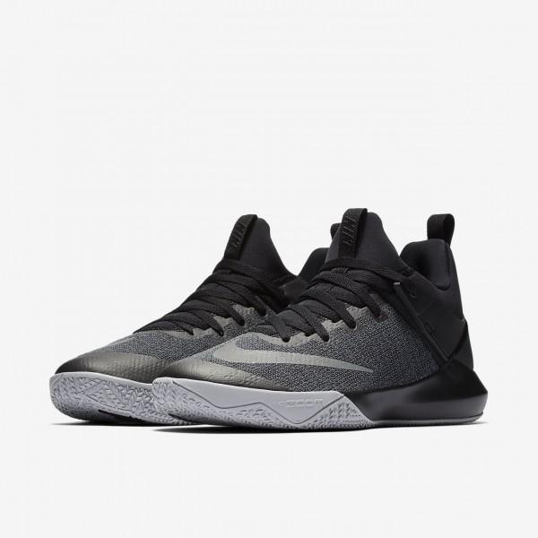 Nike Zoom Shift Basketballschuhe Herren Schwarz Silber 930-62796