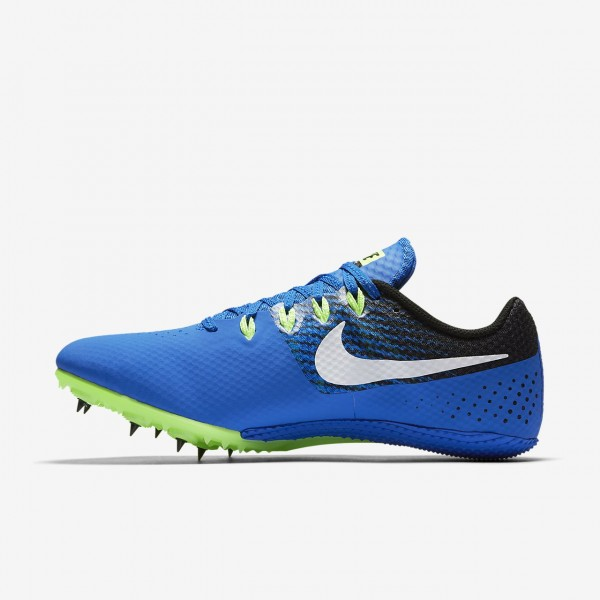 Nike Zoom Rival S 8 Spike Schuhe Herren Blau Schwarz Grün Weiß 480-57599