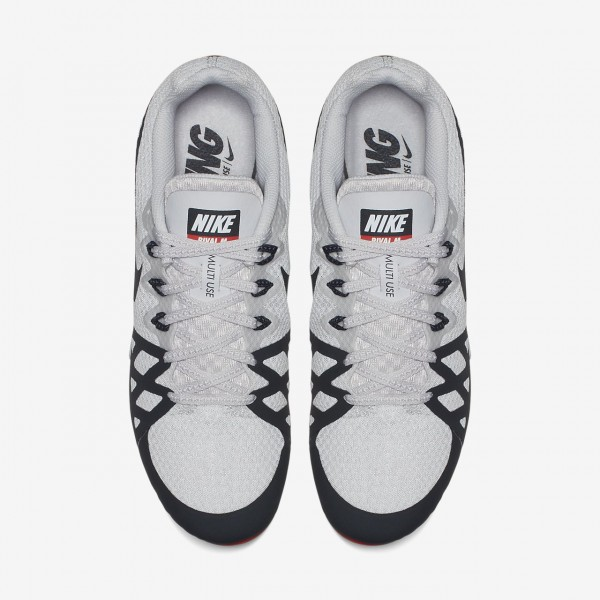 Nike Zoom Rival M 8 Spike Schuhe Herren Grau Rot Weiß Schwarz 674-63010