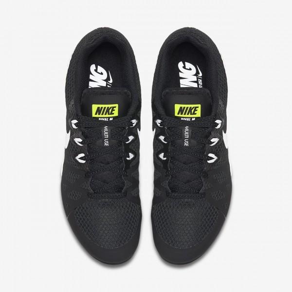 Nike Zoom Rival M 8 Spike Schuhe Herren Schwarz Grün Weiß 746-88781