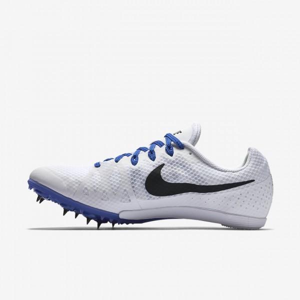 Nike Zoom Rival M 8 Spike Schuhe Herren Weiß Blau Schwarz 141-95870