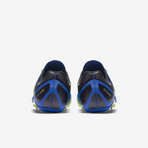 Nike Zoom Celar 5 Spike Schuhe Herren Blau Schwarz Grün Weiß 879-54255