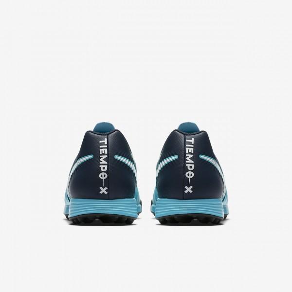 Nike Tiempox Ligera Iv Tf Fußballschuhe Herren Blau Obsidian Weiß 919-43334