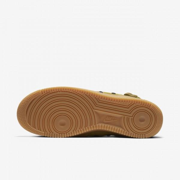 Nike Sf Air Force 1 Mid Freizeitschuhe Herren Olive Braun Schwarz 607-95024
