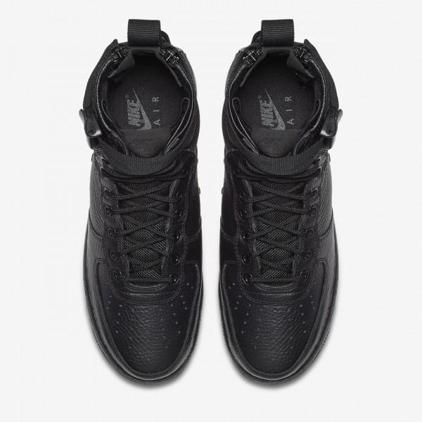 Nike Sf Air Force 1 Mid Freizeitschuhe Herren Schwarz 616-23131