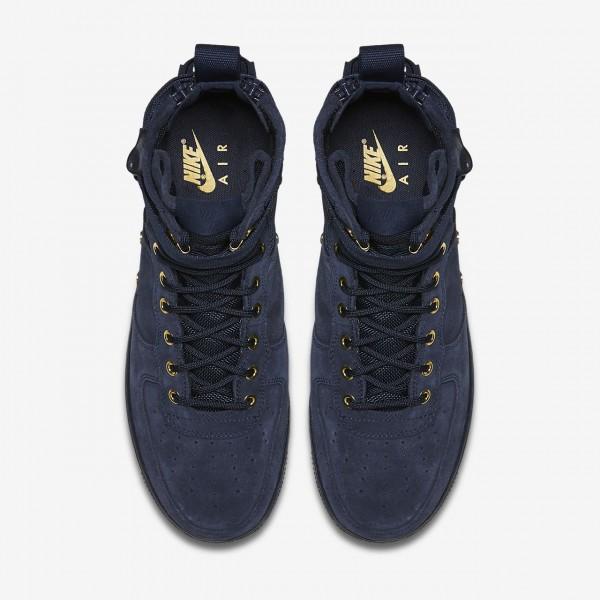 Nike Sf Air Force 1 Mid Freizeitschuhe Herren Obsidian Schwarz 648-62711