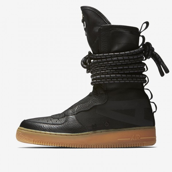 Nike Sf Air Force 1 Hi Boots Herren Schwarz Braun ...