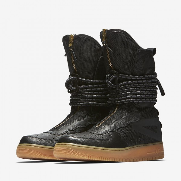 Nike Sf Air Force 1 Hi Boots Herren Schwarz Braun 402-14063