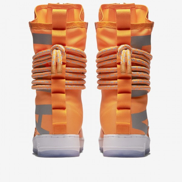 Nike Sf Air Force 1 Hi Boots Herren Orange Weiß 555-95108