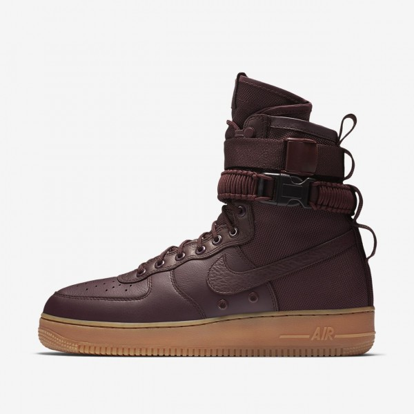 Nike Sf Air Force 1 Boots Herren Tiefes Weinrot Sc...
