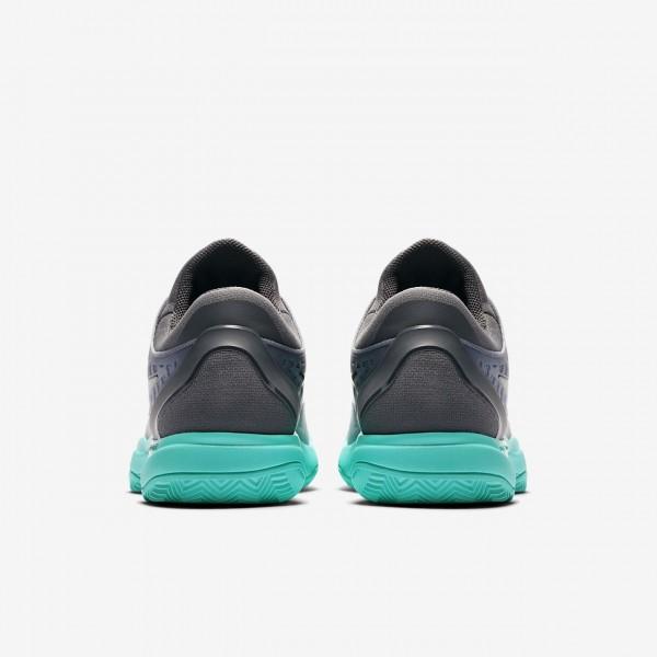 Nike Zoom Cage 3 Clay Tennisschuhe Herren Dunkelgrau Grün Grau Schwarz 921-46341