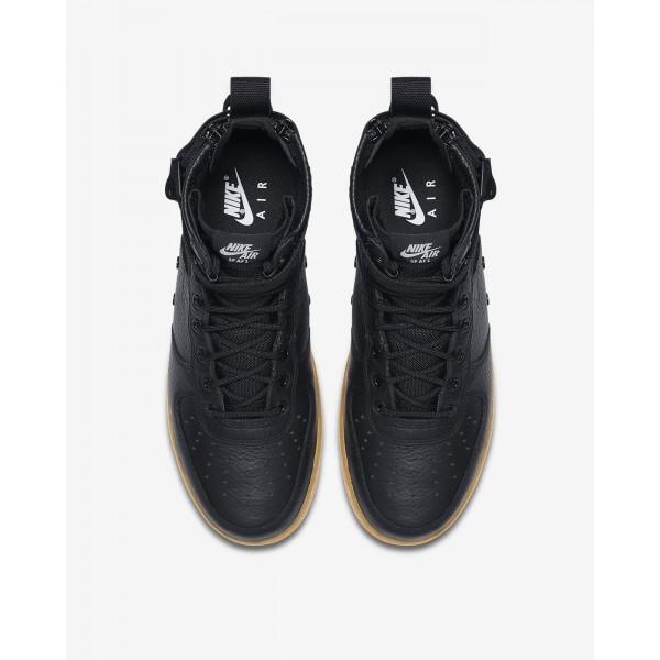 Nike Sf Air Force 1 Mid Freizeitschuhe Herren Schwarz Hellbraun 866-87443