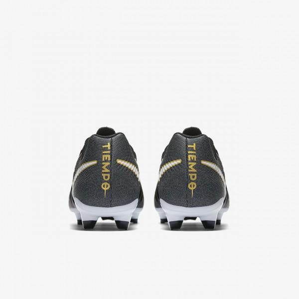 Nike Tiempo Ligera Iv Fg Fußballschuhe Herren Schwarz Weiß 530-88685