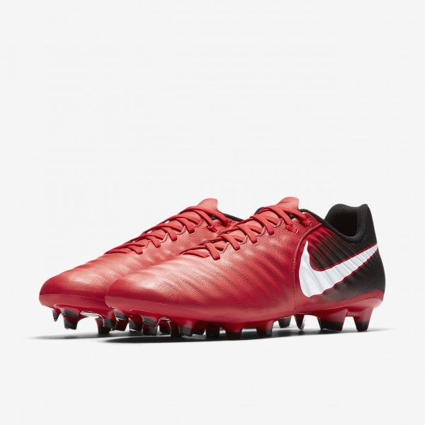 Nike Tiempo Ligera Iv Fg Fußballschuhe Herren Schwarz Rot Weiß 578-91995