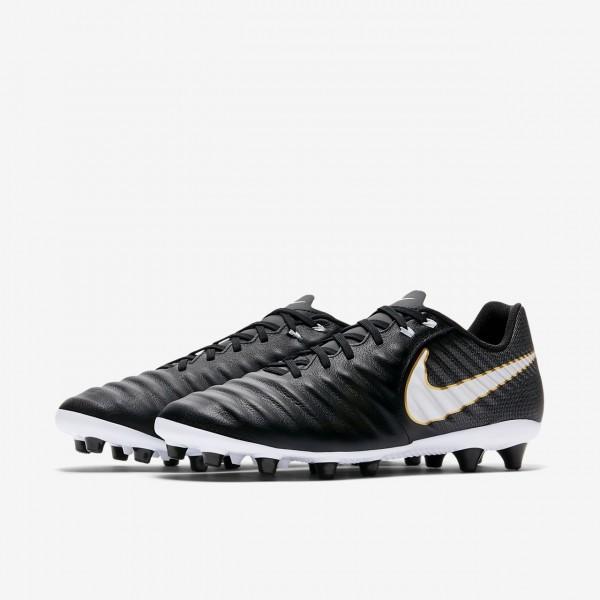 Nike Tiempo Ligera Iv Ag-pro Fußballschuhe Herren Schwarz Weiß 964-17205
