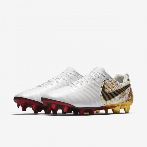 Nike Tiempo Legend Vii Se Sergio Ramos Fg Fußballschuhe Herren Weiß Metallic Gold 695-70481