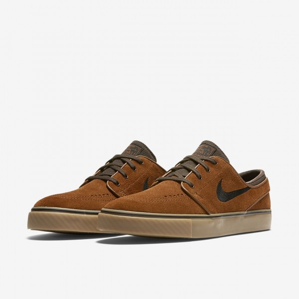 Nike Sb Zoom Stefan Janoski Skaterschuhe Herren Braun Hellbraun Schwarz 876-64698
