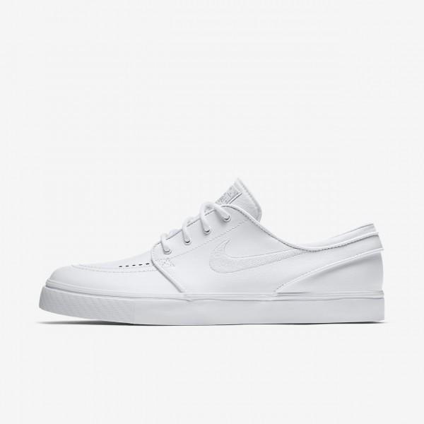 Nike Sb Zoom Stefan Janoski Leder Skaterschuhe Herren Weiß Grau 672-11814