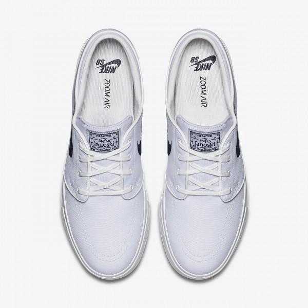 Nike Sb Zoom Stefan Janoski Canvas Skaterschuhe Herren Weiß Obsidian 305-62869