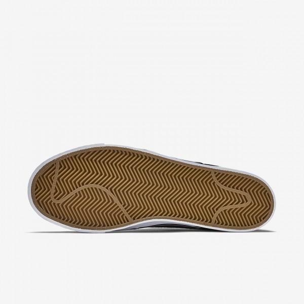 Nike Sb Zoom Stefan Janoski Canvas Skaterschuhe Herren Schwarz Hellbraun Metallic Gold Weiß 163-2645
