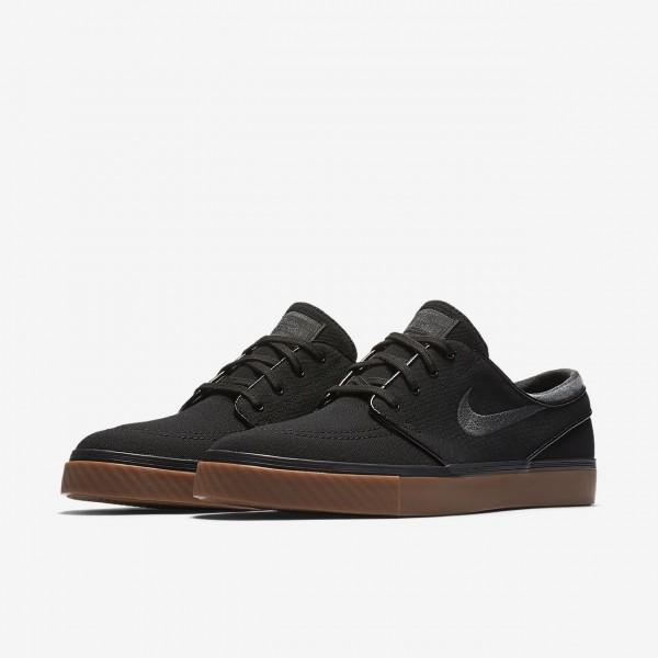 Nike Sb Zoom Stefan Janoski Canvas Skaterschuhe Herren Schwarz Braun 576-22439