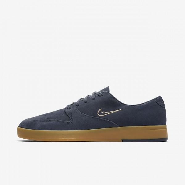 Nike Sb Zoom Paul Rodriguez Ten Skaterschuhe Herren Blau Zitrone Grau 830-44782