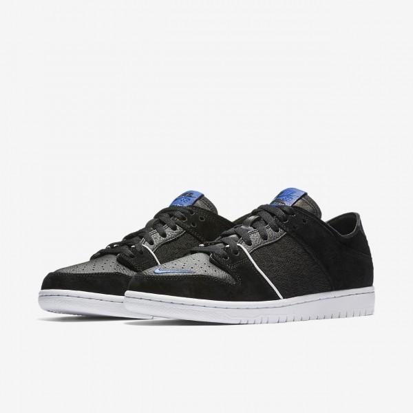 Nike Sb Zoom Dunk low Pro Qs Skaterschuhe Herren Schwarz Weiß Königsblau 745-31998