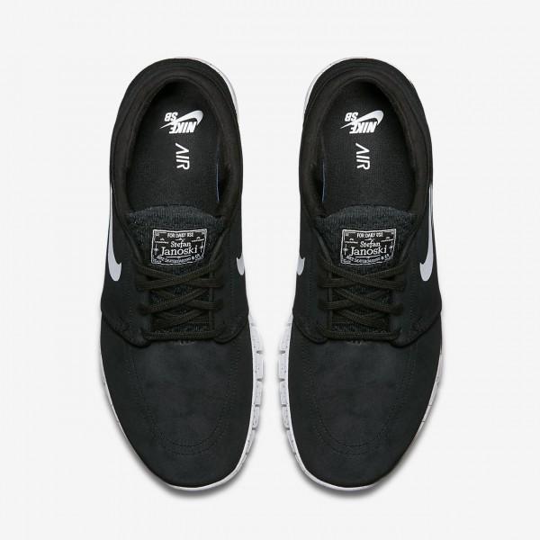 Nike Sb Stefan Janoski Max L Skaterschuhe Herren Schwarz Weiß 210-85167