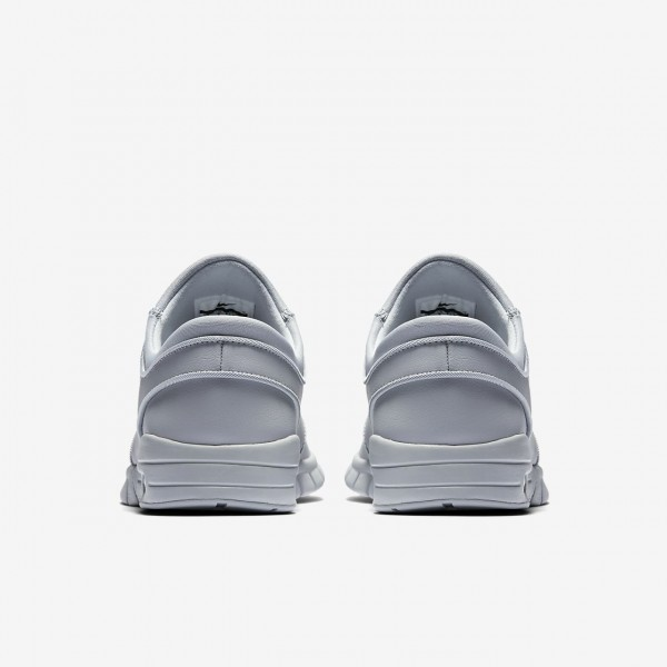 Nike Sb Stefan Janoski Max L Skaterschuhe Herren Grau Weiß 364-42107