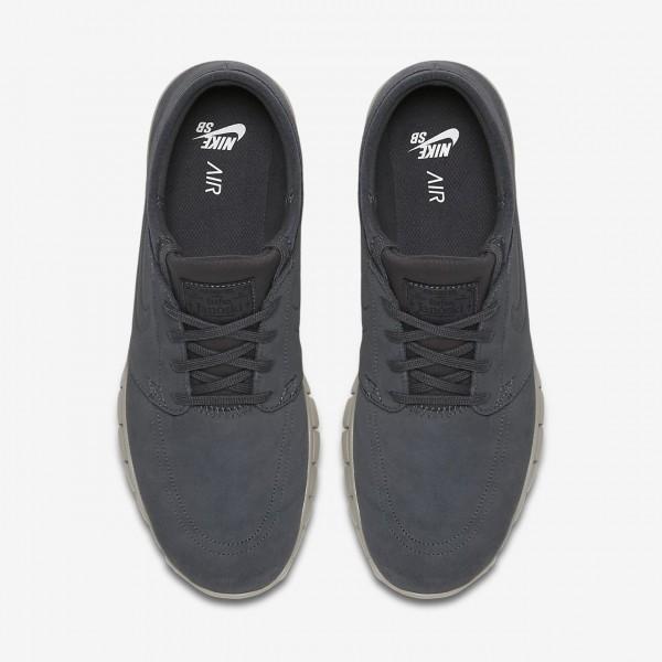 Nike Sb Stefan Janoski Max L Skaterschuhe Herren Dunkelgrau Weiß 663-51293