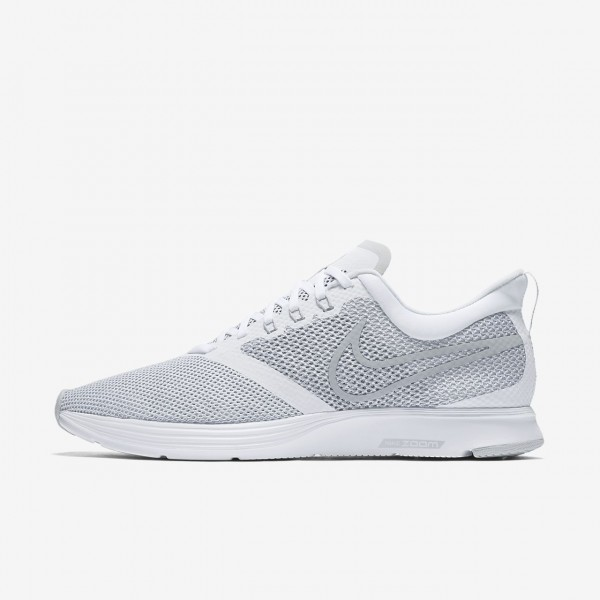 Nike Zoom Strike Laufschuhe Herren Weiß Grau 621-...