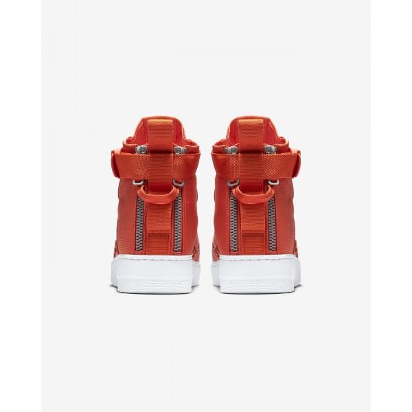 Nike Sf Air Force 1 Mid Freizeitschuhe Herren Orange Weiß 269-77049