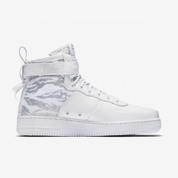 Nike Sf Air Force 1 Mid Winter Freizeitschuhe Herren Weiß 762-73699