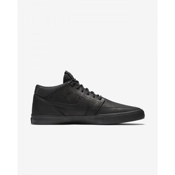 Nike Sb Solarsoft Portmore II Mid Skaterschuhe Herren Schwarz 107-44502