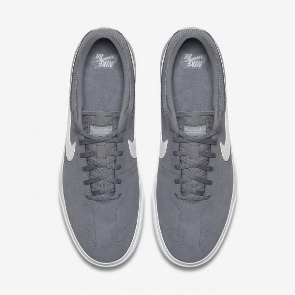 Nike Sb Koston Hypervulc Skaterschuhe Herren Grau Weiß 404-52947