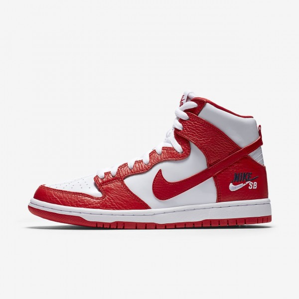 Nike Sb Dunk Pro high Skaterschuhe Herren Rot Wei�...