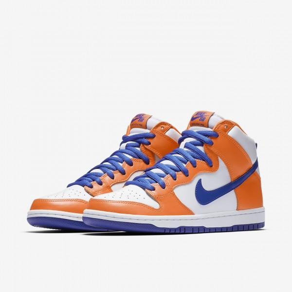 "Nike Sb Dunk Pro high ""Supa"" Skaterschuhe Herren Orange Weiß Blau 335-80339"