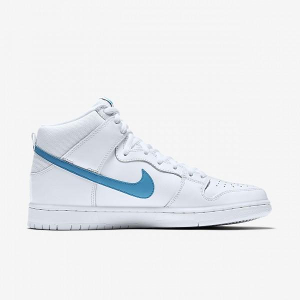 Nike Sb Dunk high Pro Mulder Skaterschuhe Herren Weiß Blau 862-32081