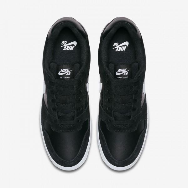 Nike Sb Delta Force Vulc Skaterschuhe Herren Schwarz Weiß 499-29971
