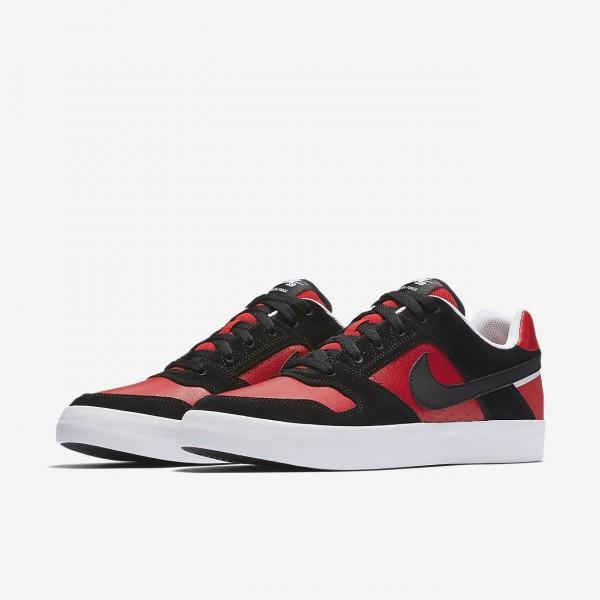 Nike Sb Delta Force Vulc Skaterschuhe Herren Schwarz Rot Weiß 341-74420
